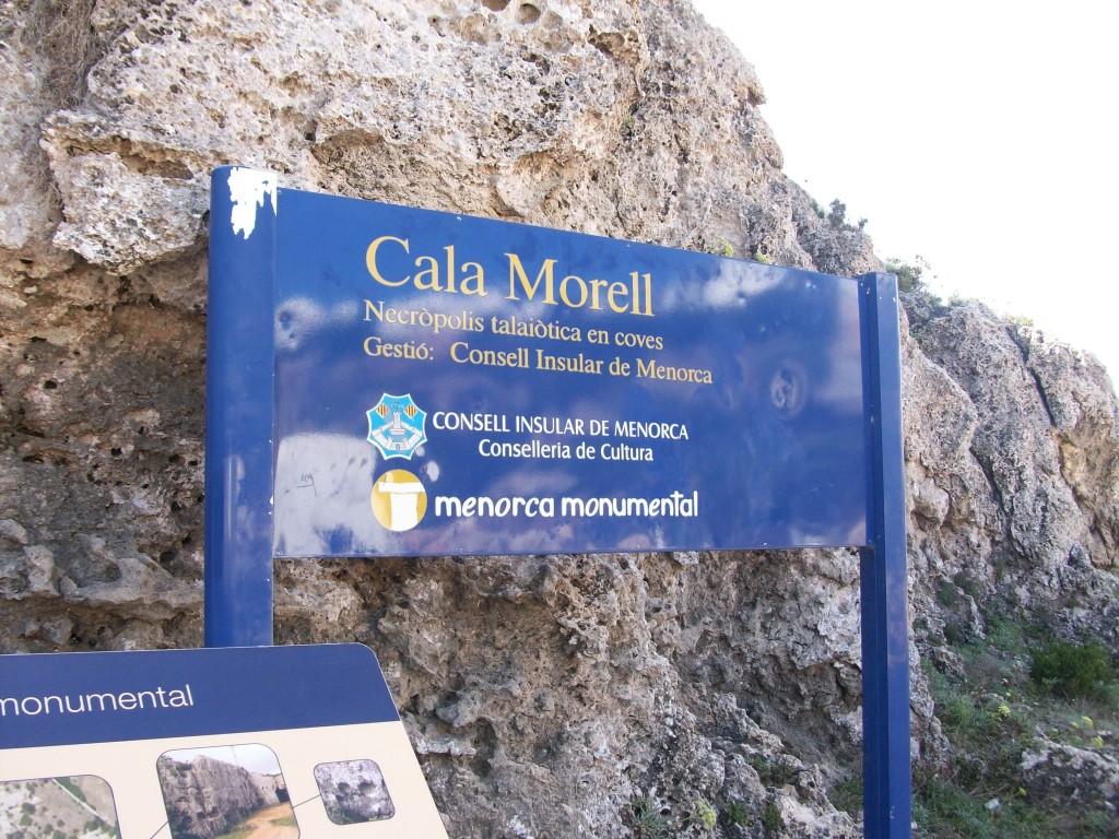 cartel cala morell necropolis