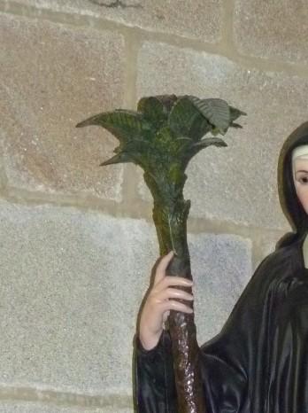 Detalle de la Palmera de la Talla de Sta. Trahamunda