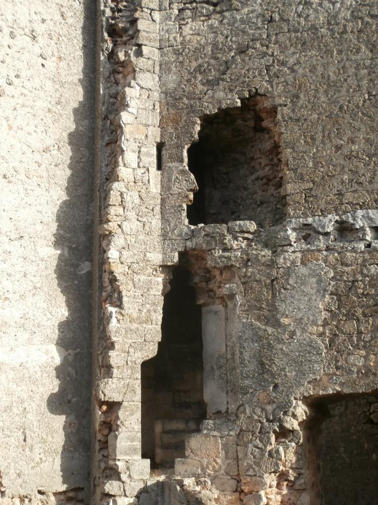 Restos de la escalera de caracol