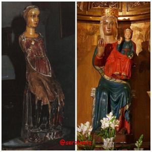 Comparacion del antes y despues de la restauracion de la Soterraña Abulense. Fuente: https://serzisanz.wordpress.com