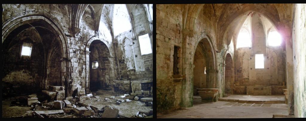 Iglesia Antes y despues altar