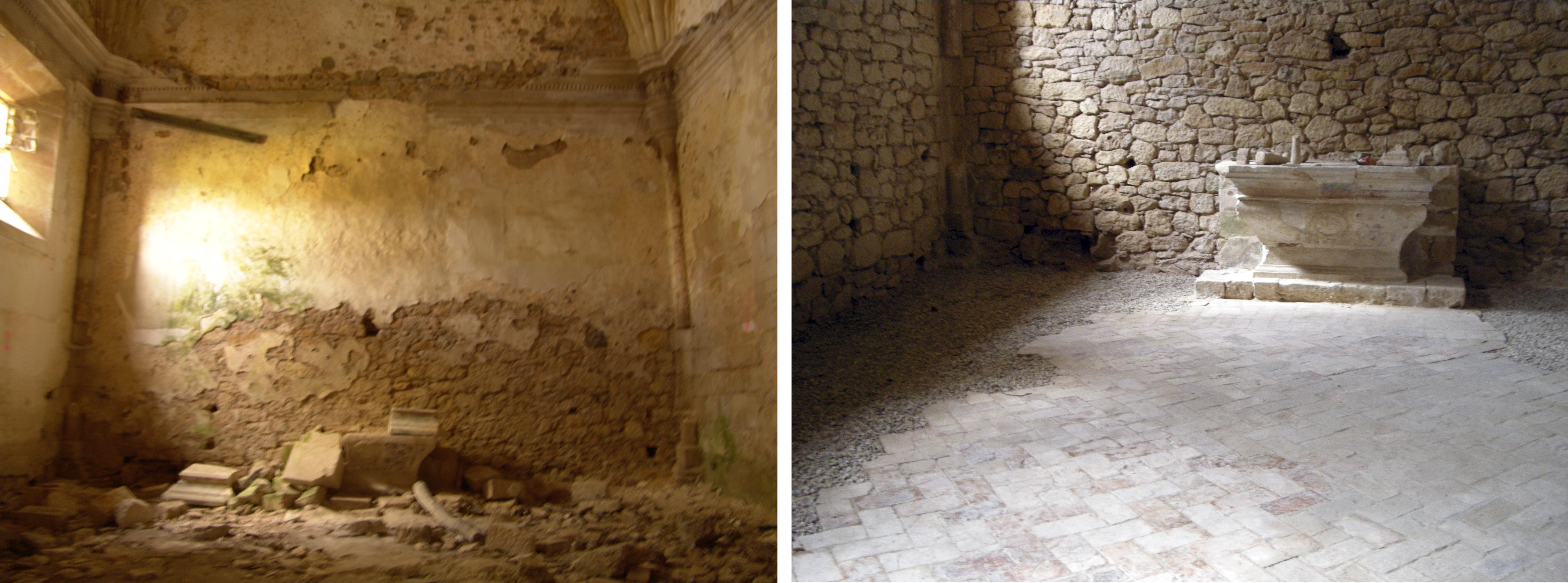 Sala capitular antes y despues