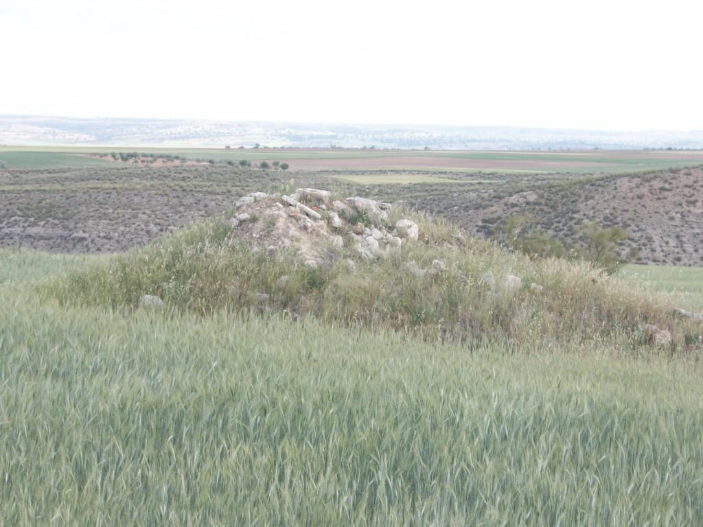 Monticulo de piedras que formaba una antigua casa