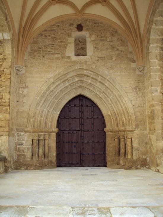 detalle del portico santa maria